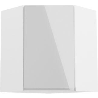 ASPEN, skříňka horní rohová G60N pravá, bílá/bílý lesk