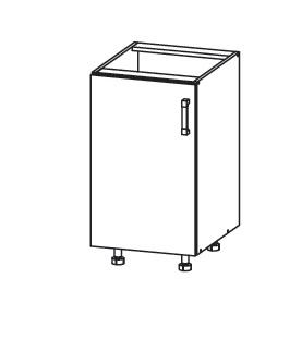 PLATE PLUS dolní skříňka D45, korpus wenge, dvířka bílá perlová