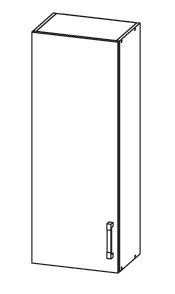 FIORE horní skříňka G40/95, korpus congo, dvířka bílá supermat
