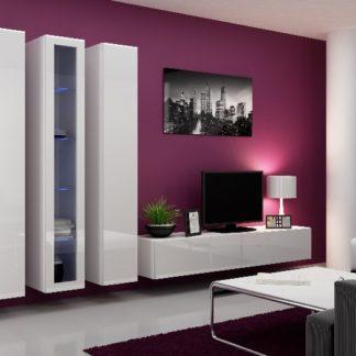 Obývací stěna VIGO 2 B, bílá/bílý lesk