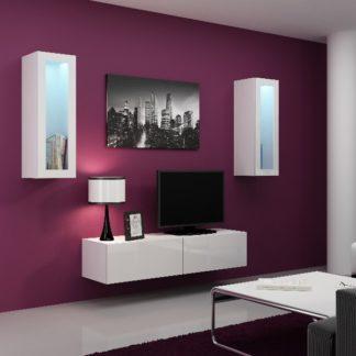 Obývací stěna VIGO 8, bílá/bílý lesk