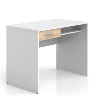 Psací stůl se zásuvkou NEPO BIU1S, bílá/dub sonoma
