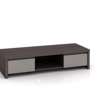 KASPIAN, televizní stolek RTV2S, šedý vysoký lesk