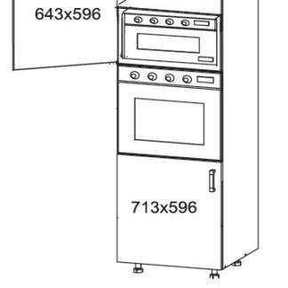 FIORE vysoká skříň DPS60/207, korpus bílá alpská, dvířka bílá supermat