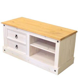TV stolek CORONA bílý vosk