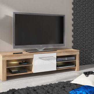 TV stolek FLEX, dub sonoma/bílý lesk