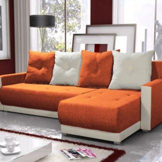 Rohová sedačka INSIGNIA BIS 20, oranžová/krémová