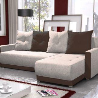 Rohová sedačka INSIGNIA BIS 6, krémová/hnědá