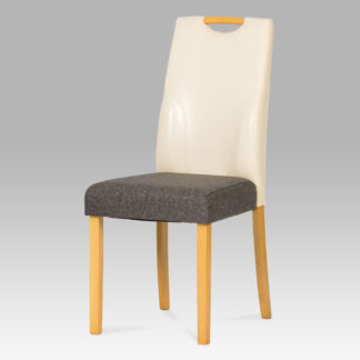 Jídelní židle buk / krémová AUC-208crm BUK3