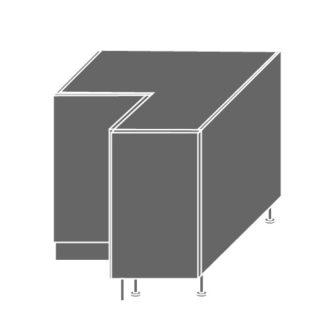 PLATINUM, skříňka dolní rohová D12 90, korpus: lava, barva: white