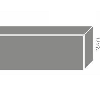 PLATINUM, skříňka horní W4b 90, korpus: bílý, barva: black stripes