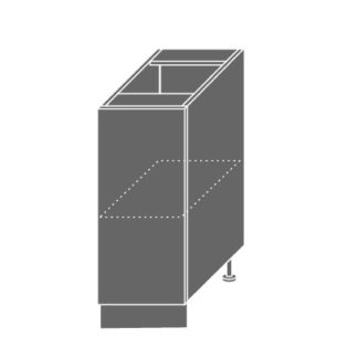 PLATINUM, skříňka dolní D1d 30, korpus: grey, barva: black