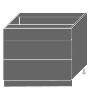 PLATINUM, skříňka dolní D3m 90, korpus: grey, barva: black