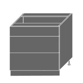 PLATINUM, skříňka dolní D3E 80, korpus: grey, barva: black stripes