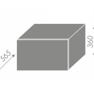 PLATINUM, skříňka horní W6B 60, korpus: bílý, barva: camel