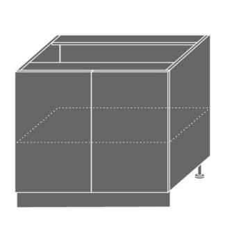 PLATINUM, skříňka dolní D11 90, korpus: bílý, barva: black stripes