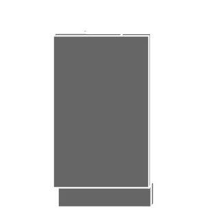 SILVER+, dvířka pro vestavby ZM-45, sokl lava, barva: black pine
