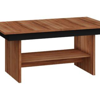 Konferenční stolek DALLAS rozkládací LESK, barva: švestka wallis/černý lesk