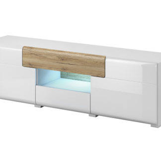 TOLEDO TV stolek TYP 41, dub san remo/bilá lesk