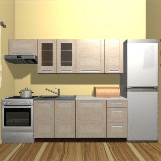 Kuchyně PESEN 2 180/240 cm, dub sonoma