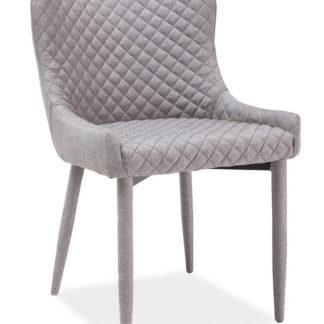 Jídelní čalouněná židle COLIN, šedá