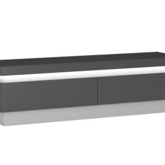 LYON LYOF01 televizní stolek RTV 2S, šedé platinum/šedý lesk
