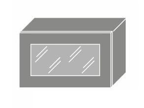 EMPORIUM, skříňka horní prosklená W4bs 60 WKF, korpus: grey, barva: grey stone