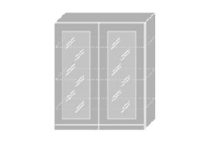 EMPORIUM, skříňka horní prosklená W4S 80, korpus: grey, barva: white
