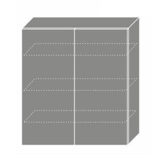 EMPORIUM, skříňka horní W4 90, korpus: lava, barva: light grey stone