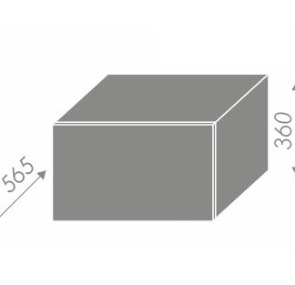 EMPORIUM, skříňka horní W6B 60, korpus: bílý, barva: grey stone