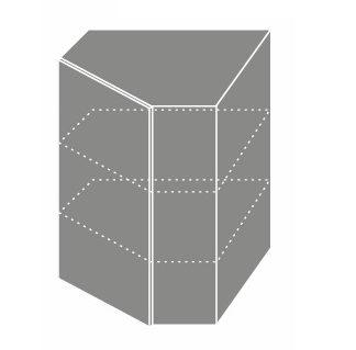 EMPORIUM, skříňka horní rohová W 10, korpus: lava, barva: white