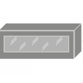EMPORIUM, skříňka horní prosklená W4bs 90 WKF, korpus: lava, barva: grey stone