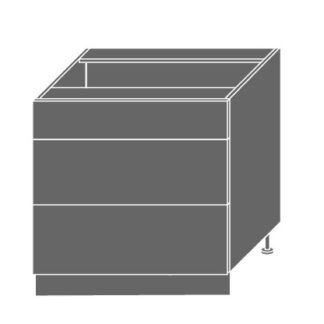 EMPORIUM, skříňka dolní D3m 80, korpus: bílý, barva: light grey stone