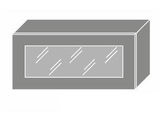 EMPORIUM, skříňka horní prosklená W4bs 80 WKF, korpus: bílý, barva: light grey stone