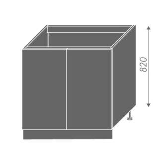 EMPORIUM, skříňka dolní dřezová D8z 80, korpus: bílý, barva: light grey stone