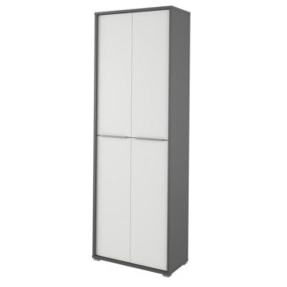 RIOMA vysoká skříň TYP 05, grafit/bílá