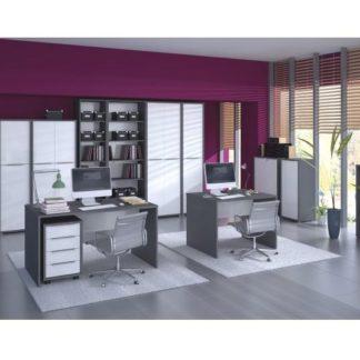 RIOMA kancelářská sestava, grafit/bílá