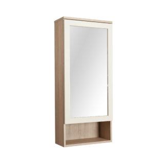 Skříňka se zrcadlem APOLON PA5, béžový lesk/dub