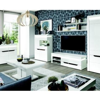Obývací pokoj IRMA 1, bílý vysoký lesk