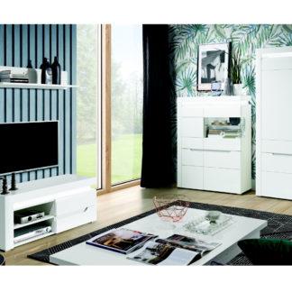 Obývací pokoj IRMA 2, bílý vysoký lesk