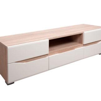 TV stolek VENETO, béžový lesk/dub
