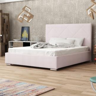 Čalouněná postel SOFIE 5 160x200 cm, růžová látka