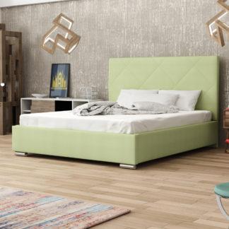 Čalouněná postel SOFIE 5 140x200 cm, zelená látka