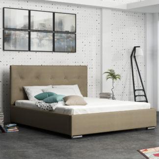 Čalouněná postel SOFIE 1 160x200 cm, béžová látka