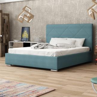 Čalouněná postel SOFIE 5 180x200 cm, modrá látka