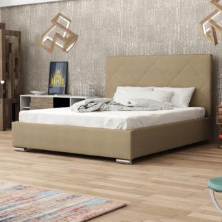 Čalouněná postel SOFIE 5 160x200 cm, béžová látka