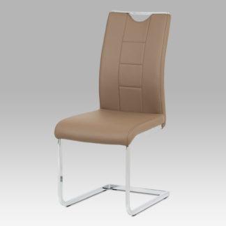 Jídelní židle DCL-411 LAT, latte koženka / chrom