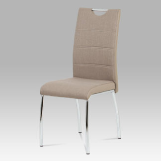 Jídelní židle HC-586 CAP2, cappuccino / chrom