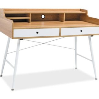 Pracovní stůl B-160, dub/bílá