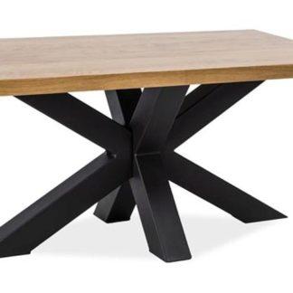 Konferenční stolek CROSS B, masiv dub/černá